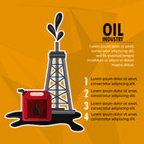 Oil industry production petroleum icon. Tower dispenser oil industry production petroleum icon, vector illustration Royalty Free Stock Photography