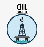 Oil industry production petroleum icon. Tower seal stamp oil industry production petroleum icon, vector illustration royalty free illustration