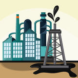 Oil industry production petroleum icon. Tower oil industry production petroleum icon, vector illustration stock illustration