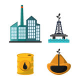 Oil industry production petroleum icon. Truck oil pump tower oil industry production petroleum icon, vector illustration vector illustration