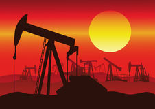 Oil industry production Royalty Free Stock Images
