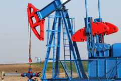 Oil industry pump jack royalty free stock image