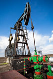 Oil industry pump jack Stock Image