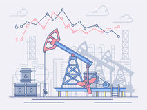 The oil industry, pumps, trade and profit. Royalty Free Stock Photography