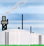 Oil Industry Refinery Royalty Free Stock Photo
