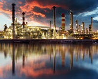 Oil Industry - refinery factory Royalty Free Stock Photos