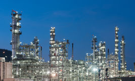 Oil Industry Refinery factory at twilight Stock Photography
