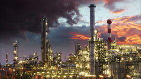 Oil Industry - refinery plant, time lapse. stock video footage