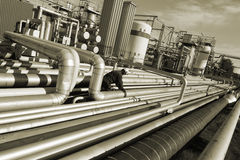 Oil industry scenery Stock Photos
