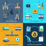 Oil Industry Set Stock Images