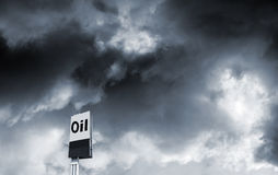Oil industry and toxic sky Royalty Free Stock Photos