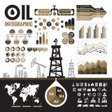 Oil industry - vector infographic elements for presentation, booklet and other design project. Royalty Free Stock Photography