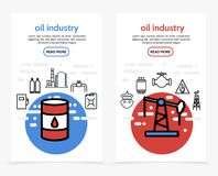 Oil Industry Vertical Banners Stock Image