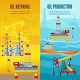 Oil Industry Vertical Banners Stock Images