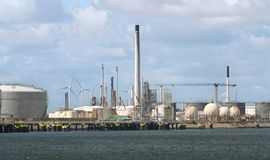 Oil Industry and Windmills Royalty Free Stock Photography