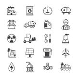Oil and Industy Icons Line Stock Image