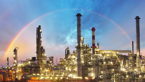 Oil indutry refinery - factory Royalty Free Stock Image