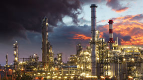 Oil indutry refinery - factory Stock Image