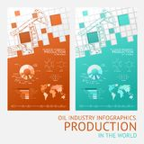 Oil infographic design. Royalty Free Stock Photography