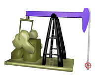 Oil jack pump Stock Photos