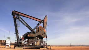 Oil jack pump in South Dakota stock video footage