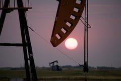 Oil Jack Saskatchewan. Canada gas fields energy Royalty Free Stock Photo