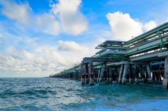 Oil jetty Royalty Free Stock Images
