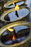 Oil lamp. Rows of tibetan oil lamps for offering royalty free stock images
