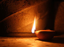 Oil lamp. Individual oil lamp in diwali Royalty Free Stock Image