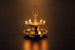 Oil lamp. A light oil lamp for the festival Deepavali Stock Images