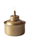 Oil lamp. A lighted oil lamp to light up the dark Stock Photos
