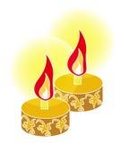 Oil lamp. For malay hari raya, vector, illustration Stock Photos
