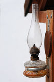 Oil lamp. Aged oil lamp in old cottage's court Royalty Free Stock Photos