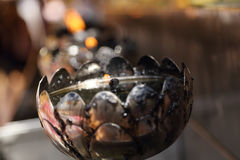Oil lamp arranged in patterns Stock Photos
