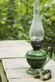 Oil lamp as country life item Stock Image
