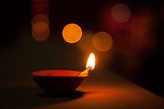 Oil lamp and blurred background Stock Photography