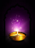 Oil lamp with diwali diya greetings dark background Stock Photos