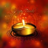 Oil lamp with diwali diya greetings Royalty Free Stock Photo
