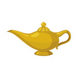 Oil lamp Icon in flat style. Royalty Free Stock Photos