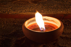 Oil lamp. Individual oil lamp in diwali Stock Photography