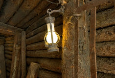 Oil lamp in the old mine Royalty Free Stock Image
