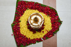 Oil lamp for Onam festival Kerala India Stock Image
