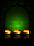 Oil lamp with  place for diiwali diya greetings Stock Image