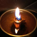 Oil Lamp reflection royalty free stock photos