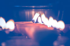 Oil lamp - vintage style Royalty Free Stock Photo