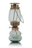 Oil lamp  on white background. Royalty Free Stock Photo