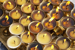 Oil Lamps at Boudhanath, Nepal Stock Images