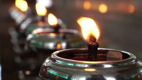 oil lamps stock video footage