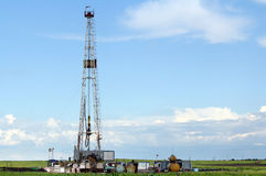Oil land drilling rig Stock Image