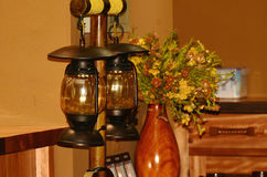 Oil Lantern Burning Royalty Free Stock Photography